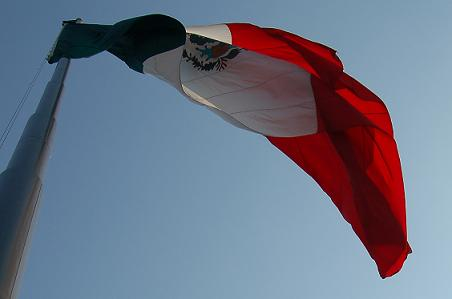 Flag over Mexico