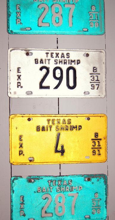 Shrimp Boat License Plates