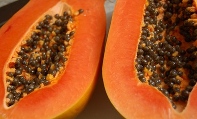 Papaya Close Up
