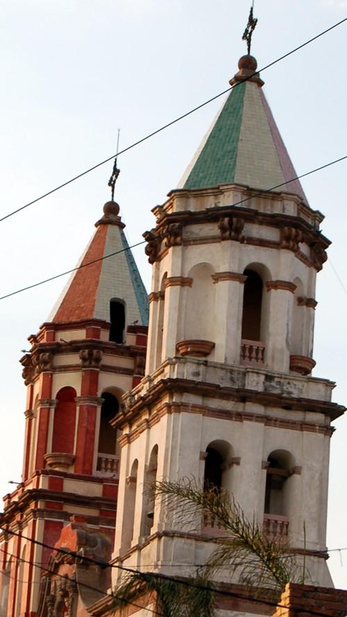 Tiled domes of Queretaro church