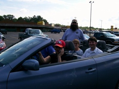 Last year, we rented a convertible. Awesome times.