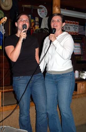 """Suzanne and I sing """"Ob La Di, Ob La Da"""" at The Last Cast Tavern."""