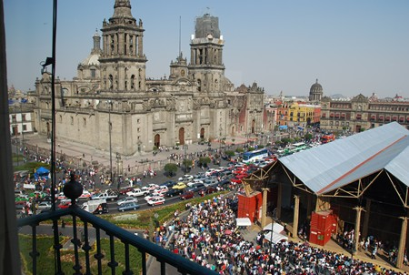 The cathedral in Mexico City's Zocalo.