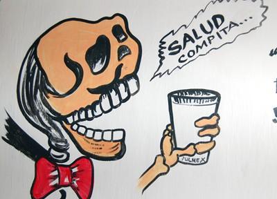 A skeleton enjoying some pulque. Salud!