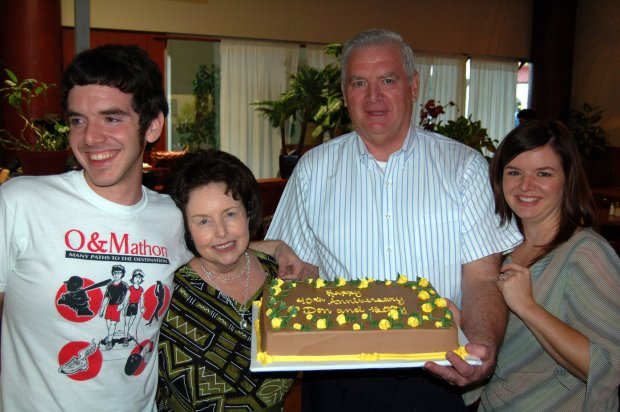 Erik, Mom, Dad, Me and a big cake!