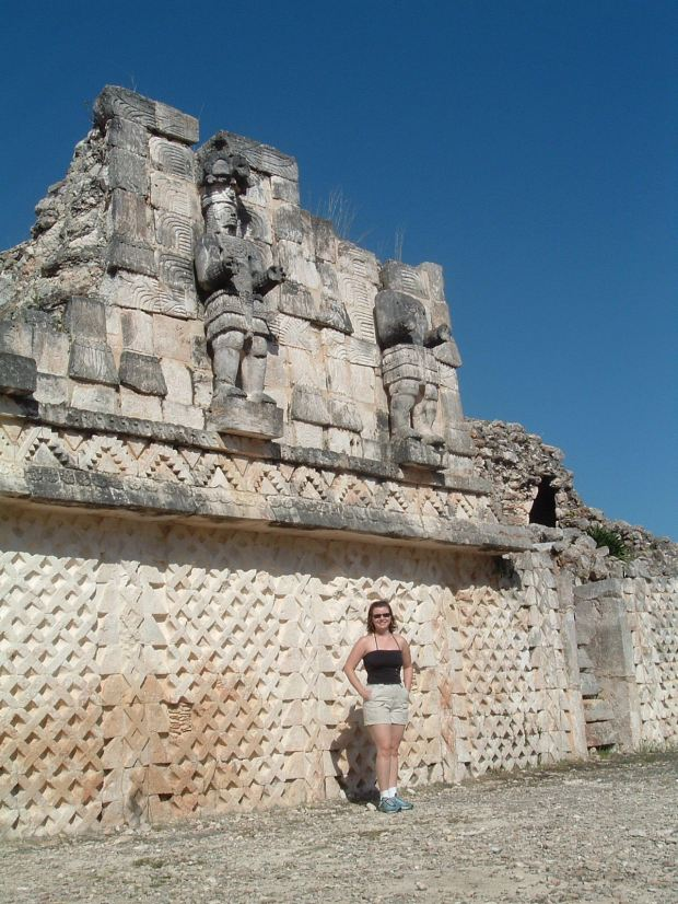 Posing in front of yet another beautiful Mayan ruin.