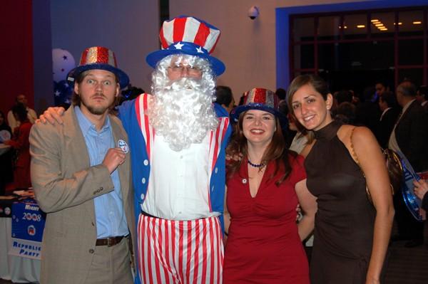 Erik, Uncle Sam, me and Jesica celebrate.
