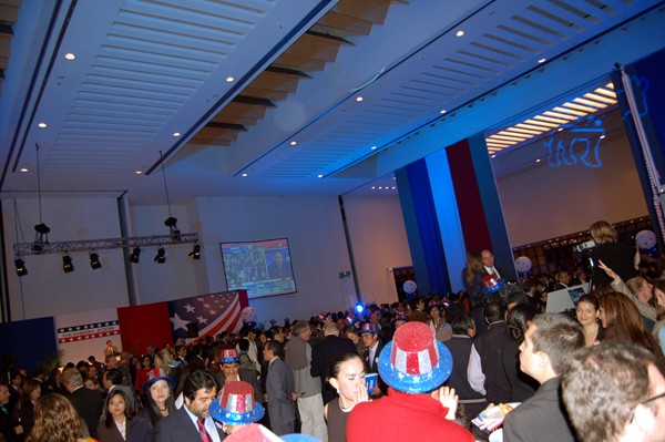 The general scene at the Mexico City Election Night party.