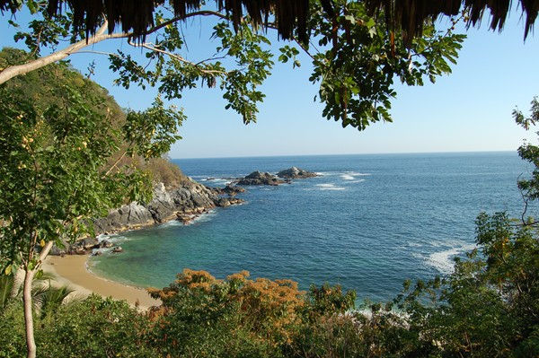 Beach perfection in Oaxaca.