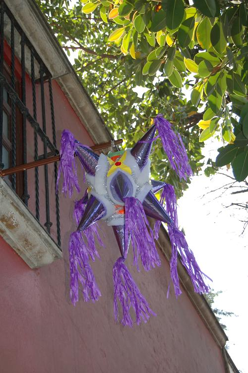 Pinatas come in all colors and sizes. But for Christmas, they're always shaped like a star.