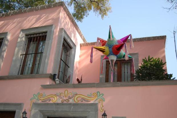 This house is in the Coyoacan burb of Mexico City.