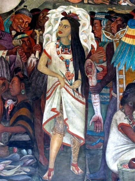 Famed Mexican artist Diego Rivera took inspiration from the ancient murals.
