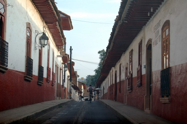 Every street in Patzcuaro looks like this.