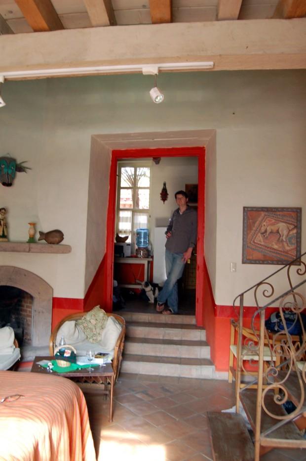 Our room at La Casa Encantada (included a kitchen).