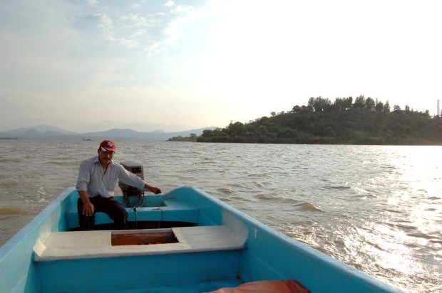 Gregorio talked us into a boat tour, and we visited two. We were the only people out.